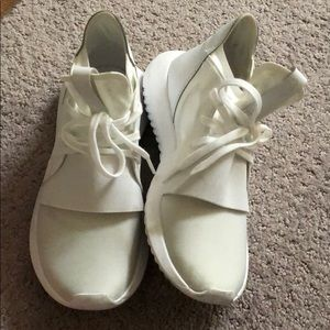 adidas Shoes - Adidas Tubular Defiant all white. Women's 5.5